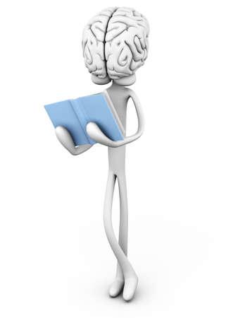 esquizofrenia: Literatura Intelligent 3D representa la ilustraci�n de dibujos animados Foto de archivo