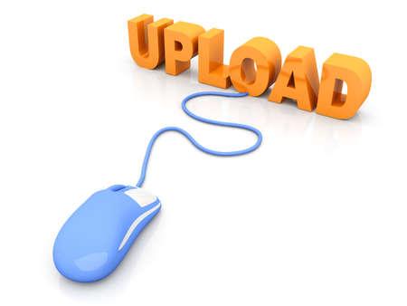 Upload data  3D rendered Illustration  Isolated on white Stock Illustration - 16461627