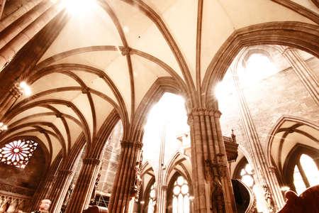 freiburg: Interior of the Freiburg Muenster in Freiburg im Breisgau, Germany, Europe  Stock Photo