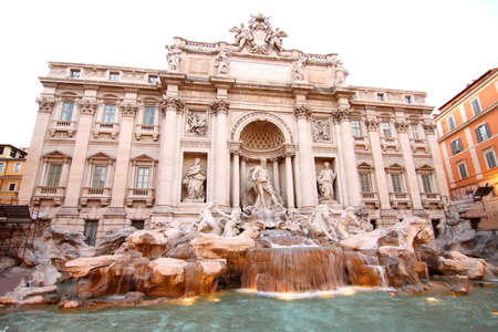 Fountain of Trevi in Rome, Italy, Europe  photo