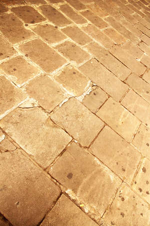 pebblestone: A ancient cobblestone Pavement in Barcelona, Spain, Europe  Stock Photo