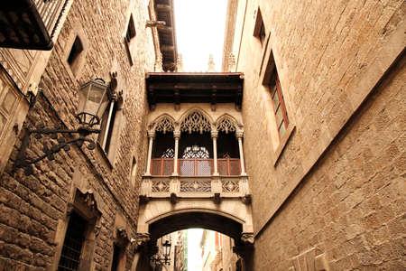 gotico: Arquitectura gótica en Barcelona, ??España, Europa Foto de archivo