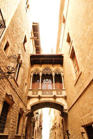 gotico: Arquitectura g�tica en Barcelona, ??Espa�a, Europa Foto de archivo