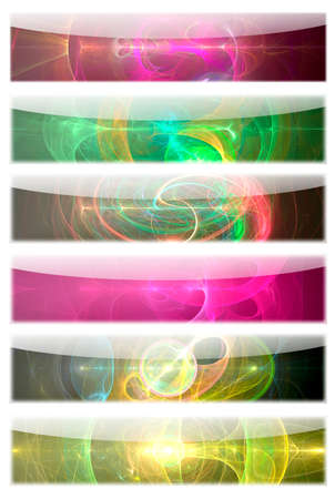 web presence internet presence: 5 Fractal Flame Banner Templates  Graphic illustration