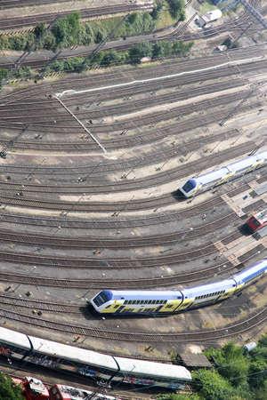 Railroad Tracks in Hamburg, Germany, Europe  Stock Photo - 16558966