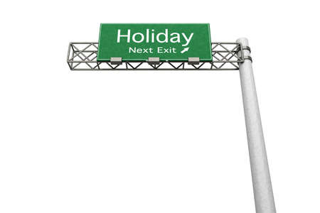 3D rendered Illustration  Highway Sign next exit to Internet