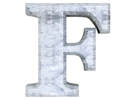 A metallic and isolated Letter  3D rendered Illustration  illustration