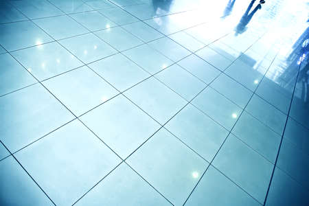 A reflective floor in a waiting hall  photo