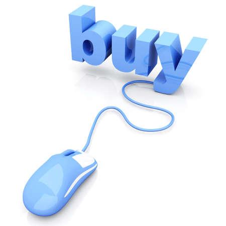 Buy online  3D rendered Illustration  Isolated on white  Stock Illustration - 16834718