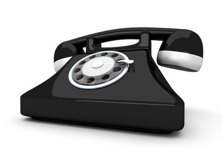 A classic Telephone  3D rendered Illustration  Isolated on white  illustration