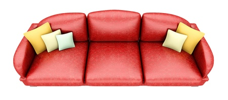 A Sofa with a Table. 3D rendered Illustration. Isolated on white. Stock Illustration - 17195506