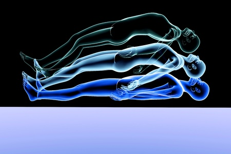 astral: 3d rendered Illustration. Astral Projection.