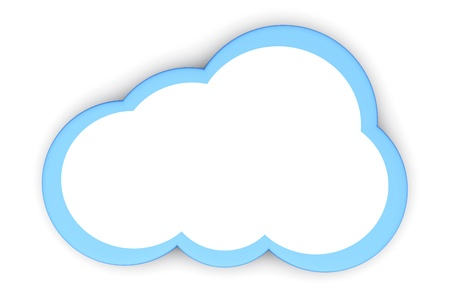 A cloud symbol  3D rendered illustration  illustration