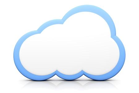 A cloud symbol  3D rendered illustration  Imagens