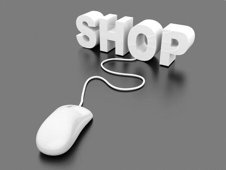 Buy at the Online shop. 3D rendered Illustration.  Stock Illustration - 17322962