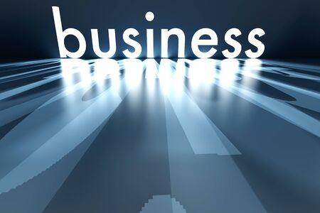 Illuminating business letters. 3D rendered Illustration. Stock Illustration - 17470714
