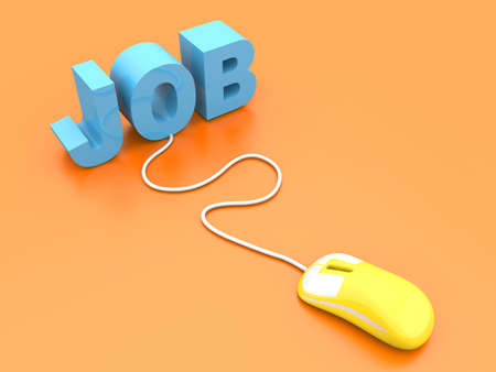 Online job. 3D rendered Illustration. Stock Illustration - 17784277