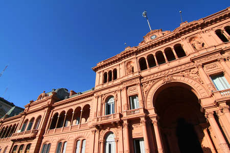 The Casa Rosada, the government building in Buenos Aires, the Capital of Argentina. photo