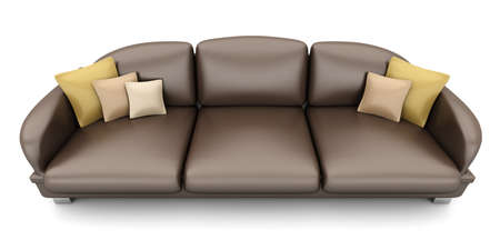 A Sofa. 3D rendered Illustration. Isolated on white.