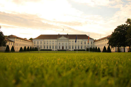bellevue: The Castle Bellevue, Residence of the Federal President of Germany in Berlin, Germany. Editorial