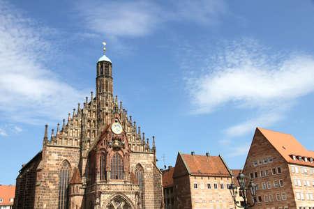frauenkirche: Die Frauenkirche (Church of Ladies) in N�rnberg, Bayern, Deutschland.