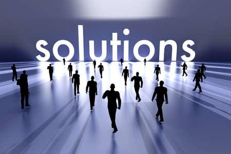 Walking towards the business solution  3D rendered Illustration Stock Illustration - 17999512