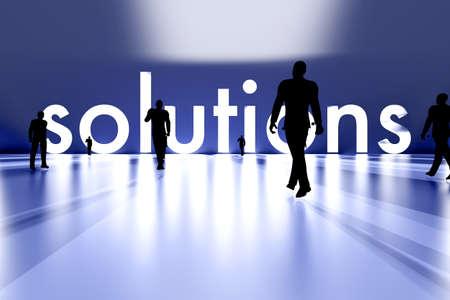 Walking towards the business solution  3D rendered Illustration Stock Illustration - 17999513