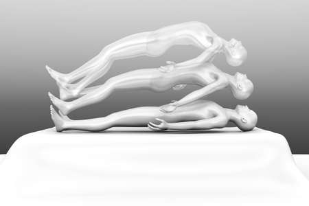 paralysis: 3d rendered Illustration  Astral Projection  Stock Photo