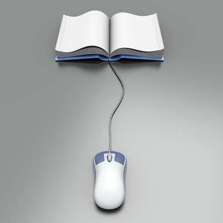 A digital book  Symbolic 3D rendered Illustration  illustration