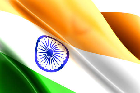 india 3d: Flag of India  3d rendered Illustration  Stock Photo