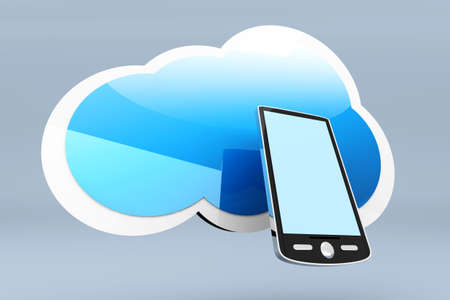 A mobile Smartphone cloud  3d rendered Illustration Stock Illustration - 18249860