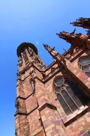 freiburg: The Freiburger Muenster in Freiburg im Breisgau, Germany, Europe