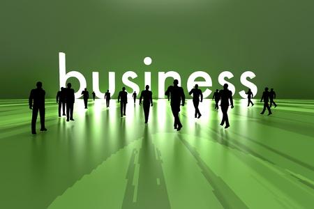 Walking towards the business solution  3D rendered Illustration Stock Illustration - 18249885