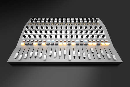 A Mixing board  3D rendered illustration Stock Illustration - 18249886