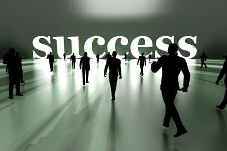 Walking towards success  3D rendered Illustration  Stock Illustration - 18549454