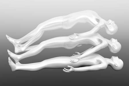 near death: 3d rendered Illustration  Astral Projection  Stock Photo