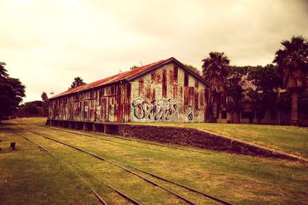 colonia del sacramento: A abandoned train station in Colonia del Sacramento, Uruguay, South america  Stock Photo