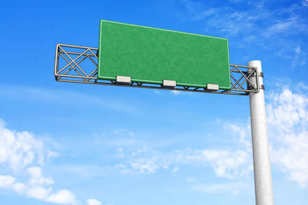 3D rendered Illustration  A empty Highway Sign