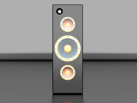 hi fi system: A Loudspeaker  3D rendered Illustration