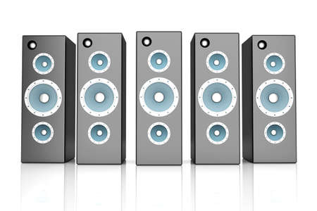 hi fi system: A set of Loudspeakers  3D rendered Illustration