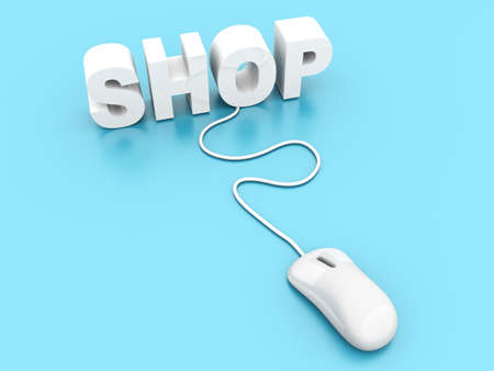 Buy at the Online shop  3D rendered Illustration   illustration