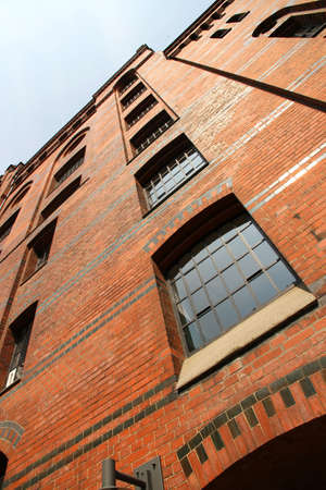 Facade of a historic building in the Speicherstadt in Hamburg, Germany, Europe  photo