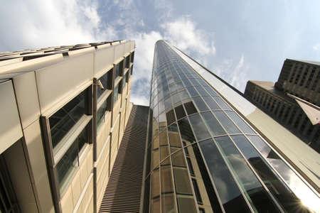 Moderne architectuur in Frankfurt am Main, Duitsland, Europa