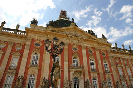 The new Palace  Neues Palais  in the royal Park Sanssouci in Potsdam, Germany