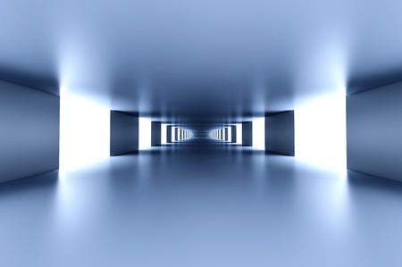entrance: A modern hallway interior  3d illustration