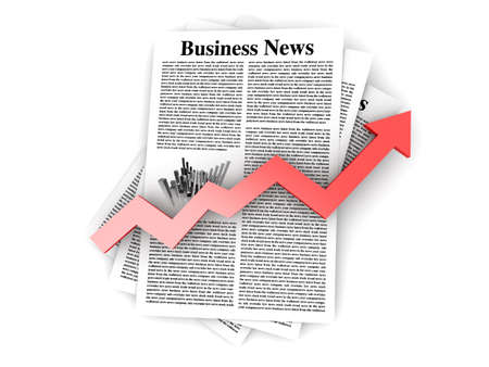 Looking for the latest business news  3d rendered Illustration  Isolated on white  illustration