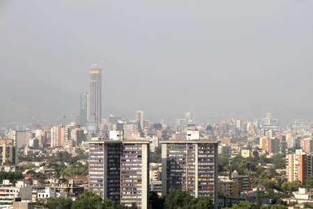 Pollution over the Skyline of Santiago de Chile, Chile, South america  photo