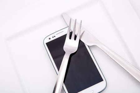 A Smartphone served on a Plate.