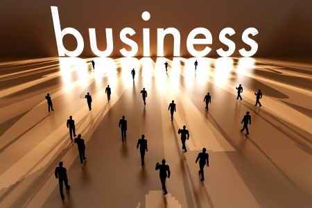 Walking towards the business solution. 3D rendered Illustration. Stock Illustration - 20313781