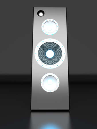 A Loudspeaker. 3D rendered Illustration. illustration